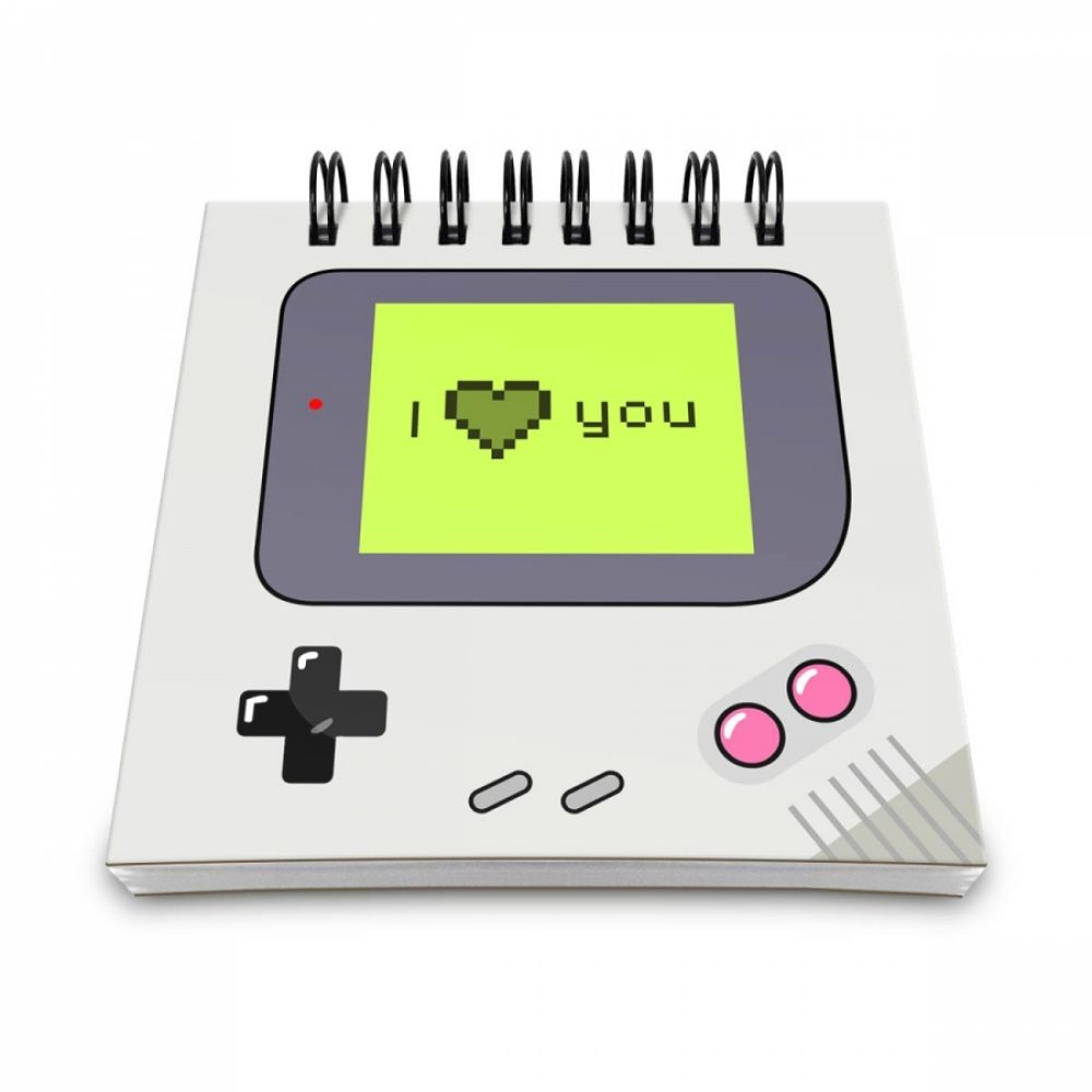 Bloco de Anotações Game Boy - I Love You - Artgeek