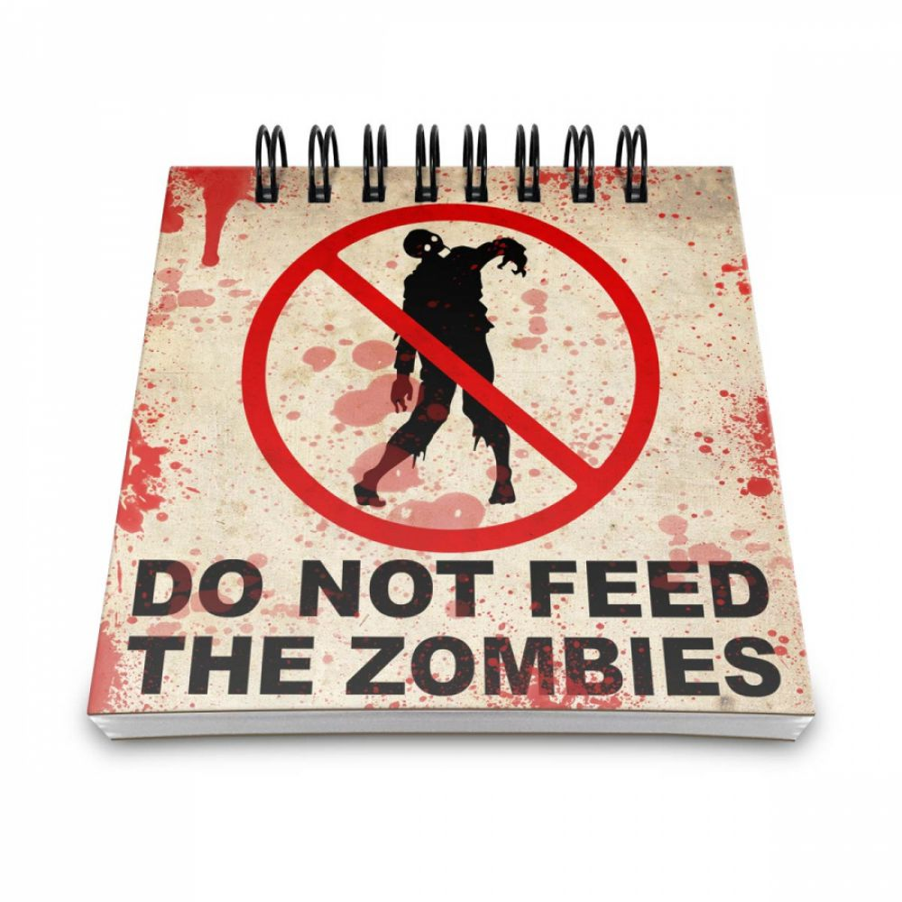 Bloco de Anotações Do not feed the Zombies - Artgeek